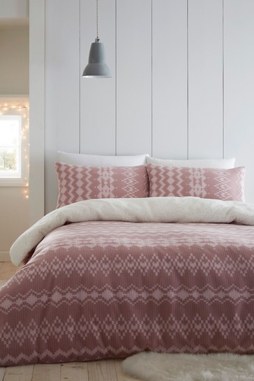 Alpine Fleece Duvet Cover and Pillowcase Set by Catherine Lansfield