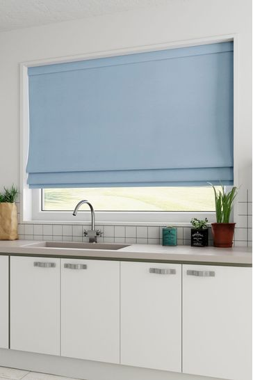 Cotton Light Blue Made to Measure Roman Blind