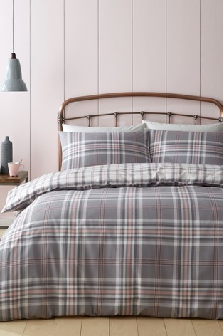 Kelso Check Duvet Cover And Pillowcase Set by Catherine Lansfield