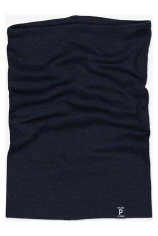 Polarn O. Pyret Blue Soft Merino Neck Warmer