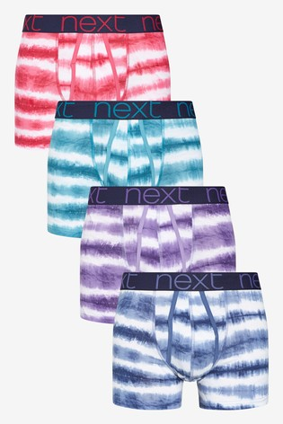 Tie Dye Effect A-Fronts Four Pack