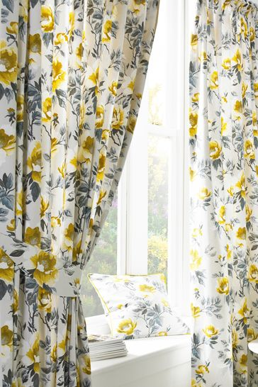 Peony Pencil Pleat Curtains by Furn