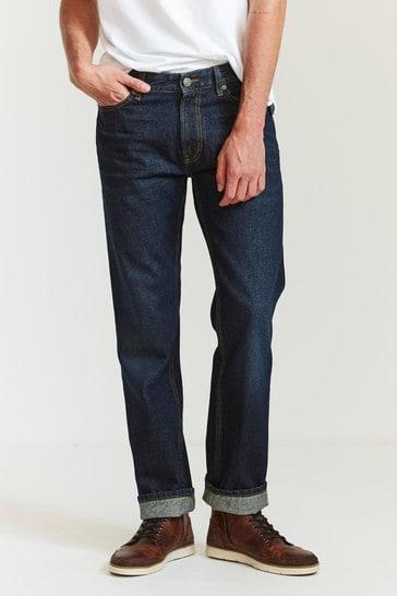FatFace Blue Straight Dark Vintage Wash Jeans
