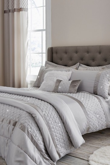 Sequin Cluster Duvet Set Duvet Cover and Pillowcase Set by Catherine Lansfield