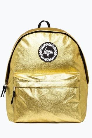 Hype. Gold Glitz Backpack