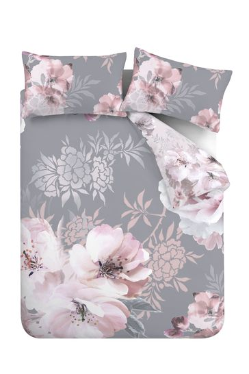 Dramatic Floral Duvet Cover And Pillowcase Set by Catherine Lansfield