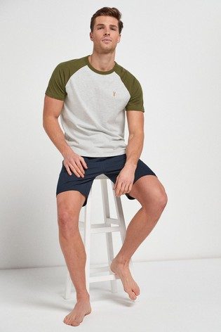 Grey/Khaki Raglan Pyjama Set