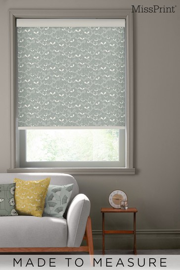 Saplings Silverleaf Grey Made To Measure Roller Blind by MissPrint