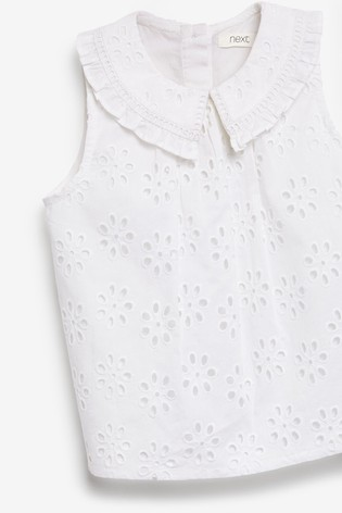 White Broderie Collar Blouse (3mths-7yrs)
