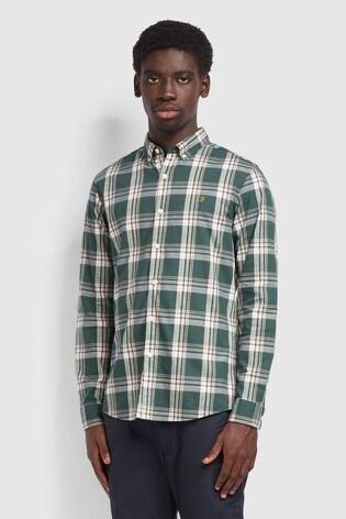 Farah Green Steen Check Slim Shirt