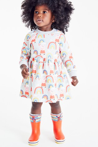 Grey Peppa Pig™ Sweat Dress (3mths-7yrs)