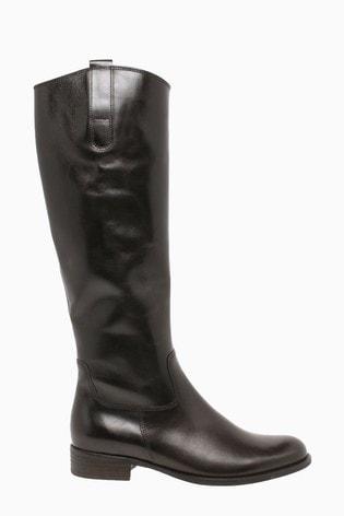 Gabor Brook Espresso Leather Knee Length Fashion Boots