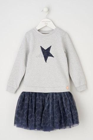 Angel & Rocket Grey Star Tutu Sweat Dress