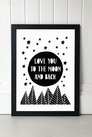 To The Moon Print by East End Prints