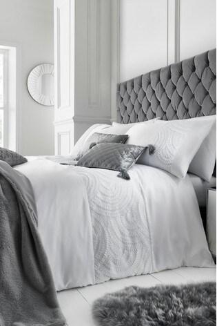 Caprice Bardot Luxury Embellished Duvet Cover and Pillowcase Set