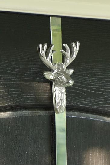 Dibor Silver Stag Wreath Hanger