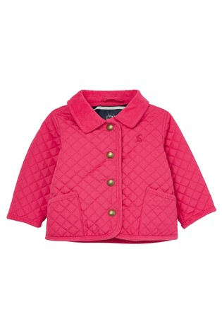 Joules Pink Mabel Quilted Coat