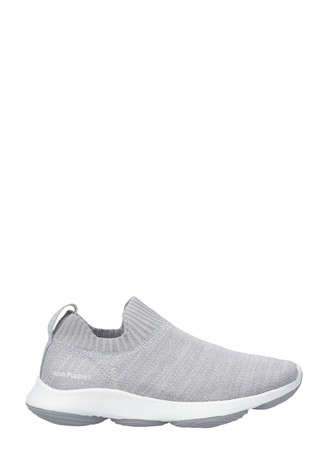 Hush Puppies Grey Free BounceMAX Slip-On Trainers