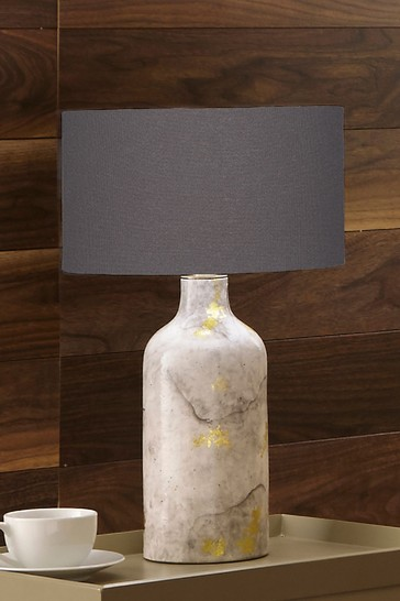 Keros Marble Effect Gold Leaf Glaze Stoneware Table Lamp by Pacific