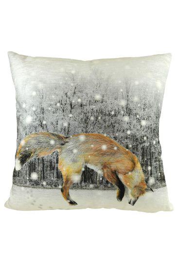 Jumping Fox Super Soft Cushion by Evans Lichfield