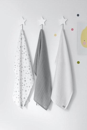 3 Pack Silentnight Safe Nights Muslin Cloths Bundle