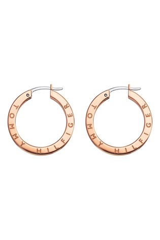 Tommy Hilfiger Rose Gold IP Earrings