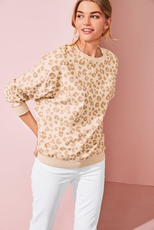 Animal Print Graphic Sweatshirt