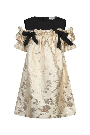 Girls Cream Holly Dress