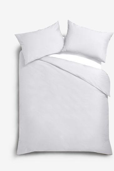 White Cotton Rich Oxford Edge Duvet Cover and Pillowcase Set