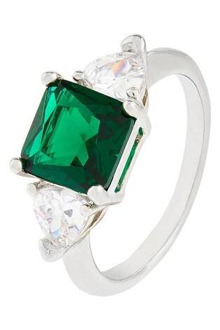 Accessorize Green Clarissa Engagement Ring