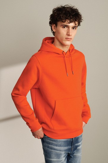 Orange Overhead Hoodie Jersey