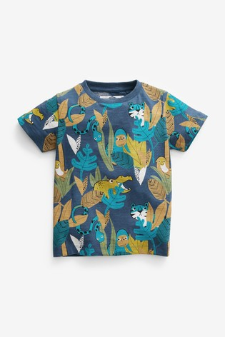 Teal Jungle All Over Printed T-Shirt (3mths-7yrs)