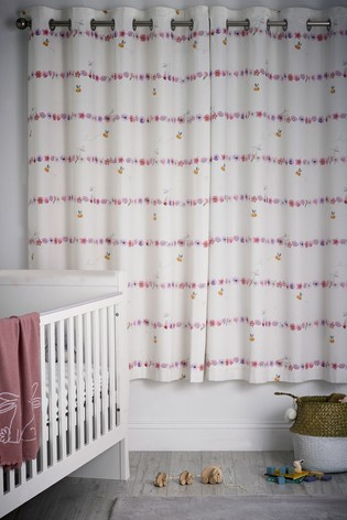 Floral Bunny Eyelet Blackout Curtains