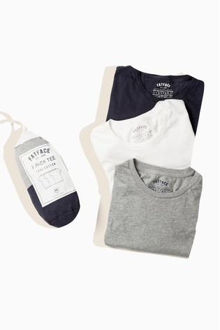 FatFace Blue Crew T-Shirts Three Pack