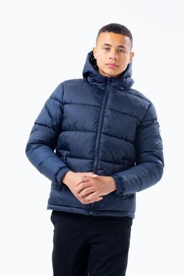 Hype. Navy Puffer Coat