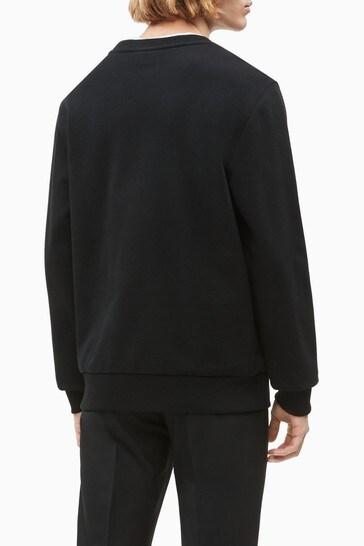 Calvin Klein Black Organic Cotton Logo Sweatshirt