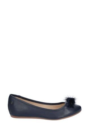 Hush Puppies Blue Heather Puff Ballet Shoes