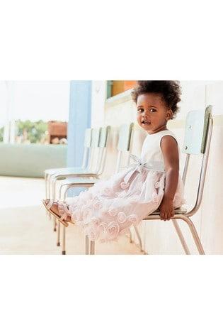 Monsoon Pink Baby Ianthe Dress