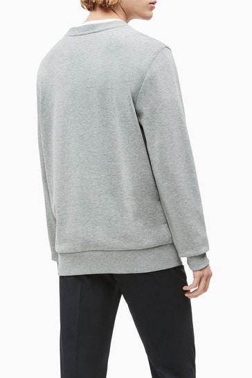 Calvin Klein Grey Organic Cotton Logo Sweatshirt