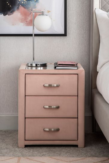 Frankie 3 Drawer Bedside Table With USB Charger
