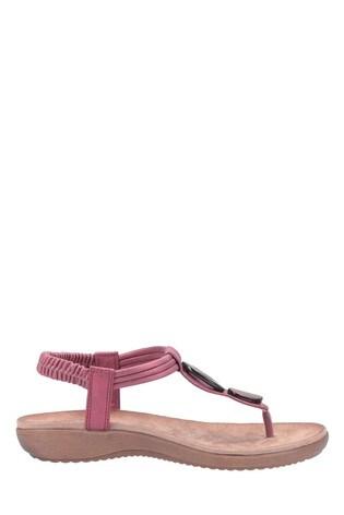 Fleet & Foster Red Clara Slip-On Sandals