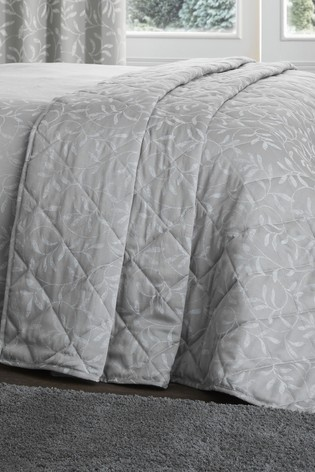 Serene Silver Alexa Jacquard Duvet Cover and Pillowcase Set