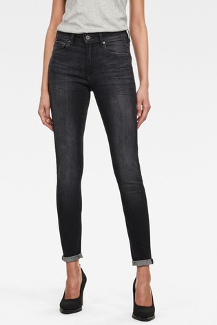 G-Star Black 3301 High Skinny Jeans