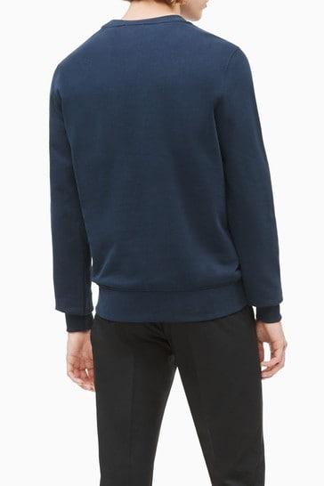 Calvin Klein Blue Organic Cotton Logo Sweatshirt