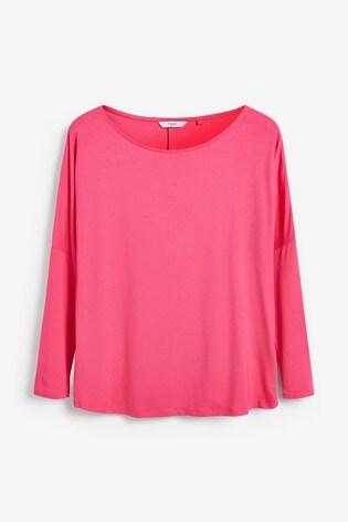 Pink Dolman Long Sleeve Top