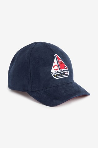 Navy/Red Boat Cap (3mths-10yrs)