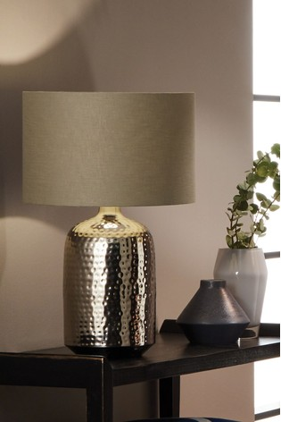 Pacific Mambo Hammered Metal Table Lamp