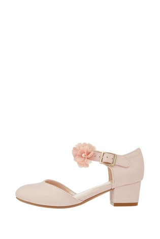 Monsoon Macaroon Pink Corsage Two Part Shoes