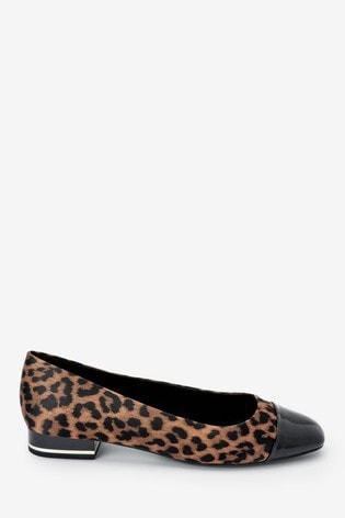 Leopard Forever Comfort® Toe Cap Ballerinas
