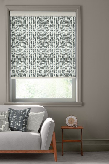 Hieroglyph Lead Grey Made To Measure Roller Blind by MissPrint